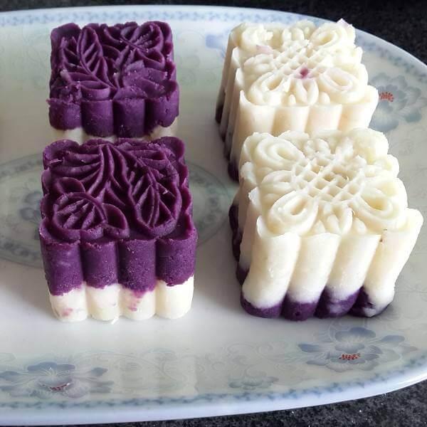 白领们最爱吃的山药紫薯糕