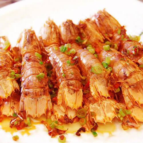 好吃的花雕皮皮虾