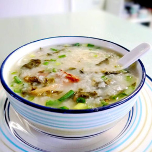菜干蚝豉粥