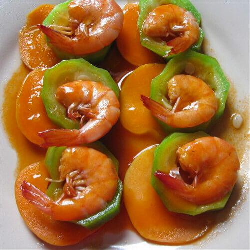 宝宝辅食番茄丝瓜炒虾