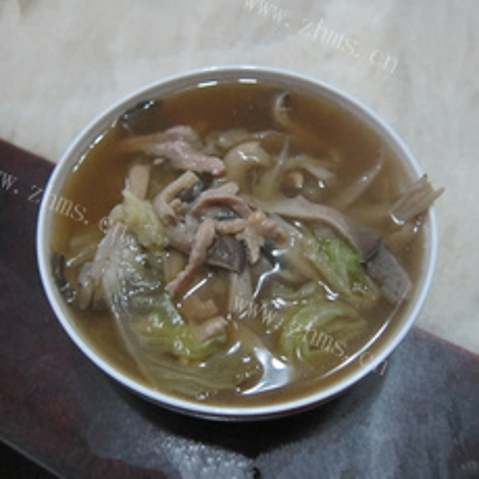 白菜肉丝汤