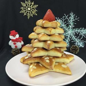 自制圣诞树面包