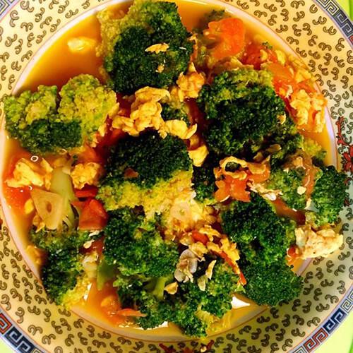 家常美食青菜番茄炒蛋
