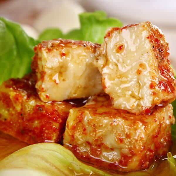 美味的鱿鱼膏酱豆腐