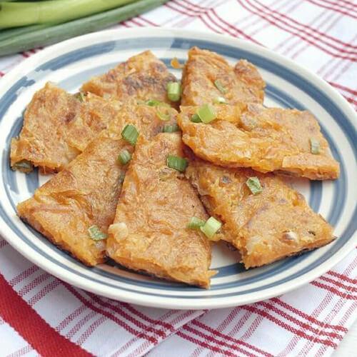 好吃的韩式角瓜泡菜煎饼