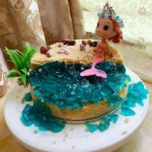 自制葱香杂菜咸味蛋糕