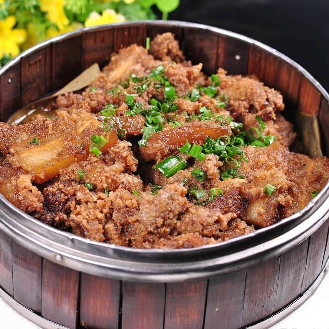 美味的江南粉蒸肉