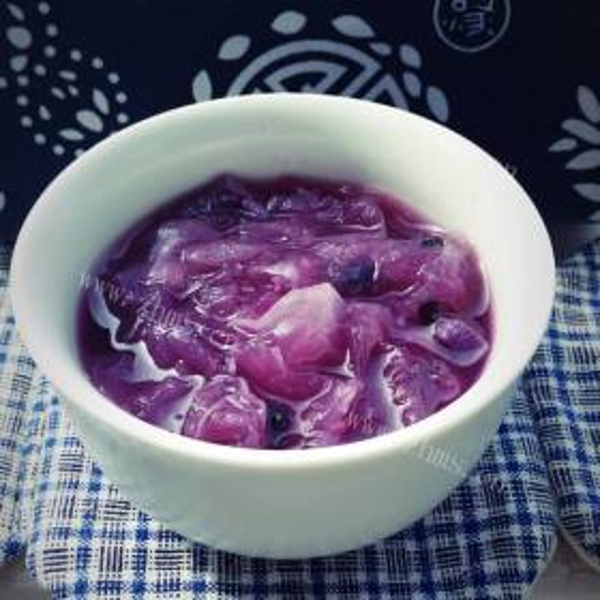 燕窝紫薯甜汤