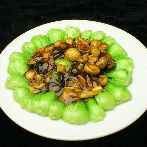 香菇肉丝扒油菜
