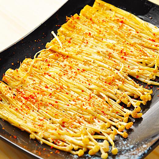 美味的电饼铛版烤金针菇