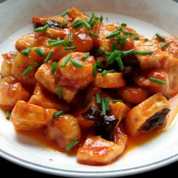 美味的番茄烩海虾