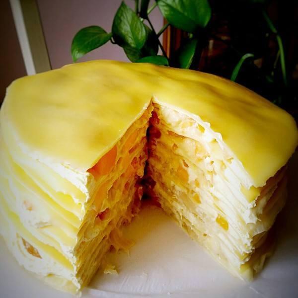 自制榴莲鲜奶蛋糕