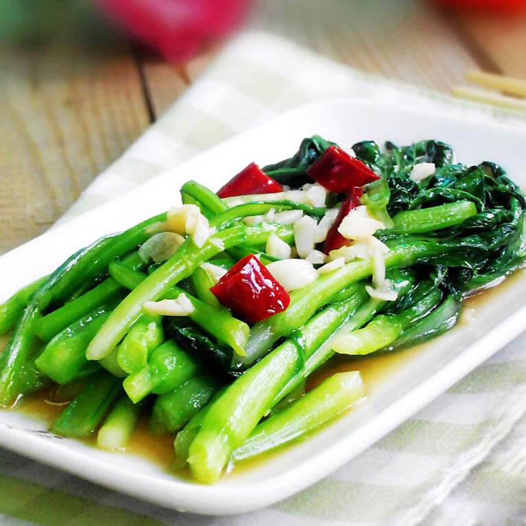 蒜粒炒柳叶菜