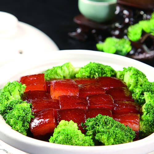 鲜香的卤肉豆芽菜