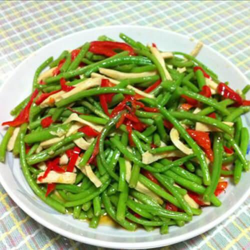绿苋菜辣椒炒肉