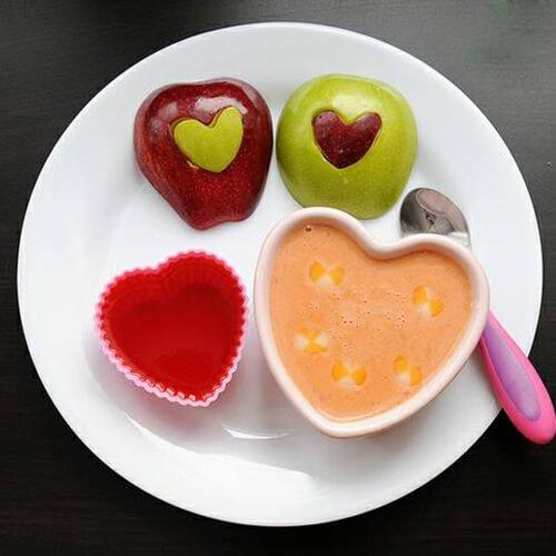十分诱人的爱心早餐