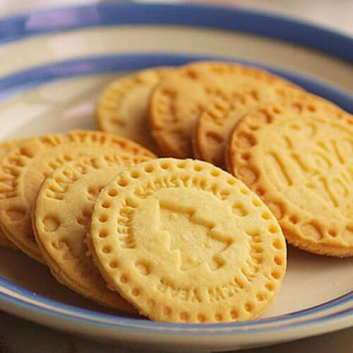 美味黄油圆形饼干