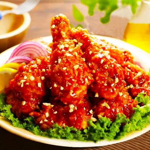香脆的韩式调味炸鸡