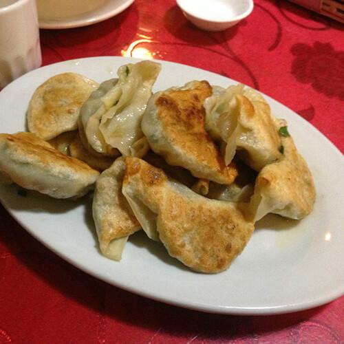 酸菜肉末煎饺