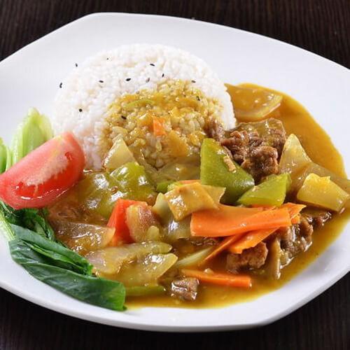自制咖喱土豆牛肉饭