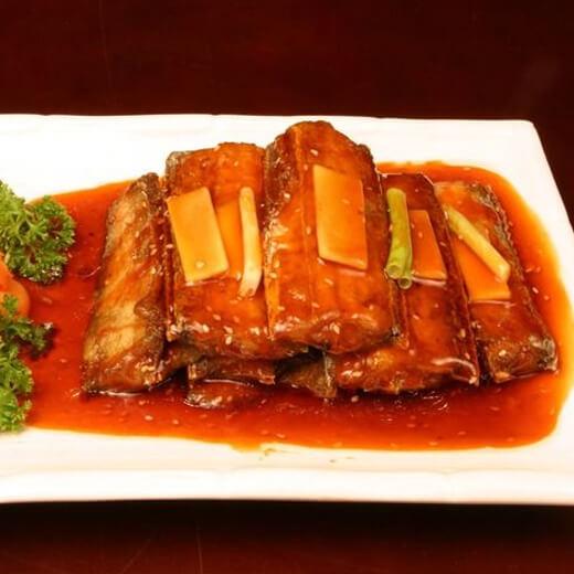 包菜丝香炒带鱼