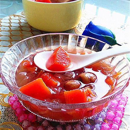 自制木瓜银耳莲子百合汤