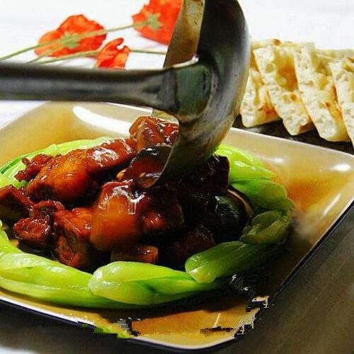荤素搭配肉炒香菇