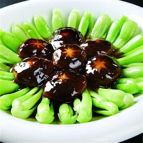 双菇扒油菜