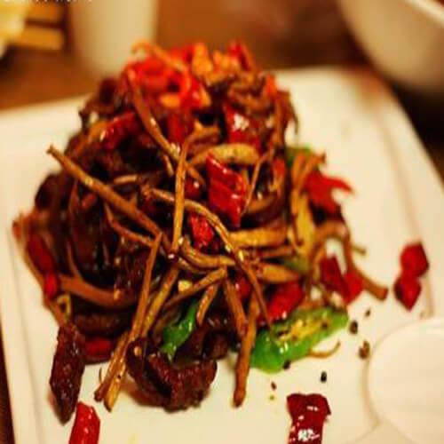 好吃的麻辣茶树菇