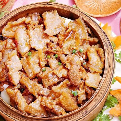 好吃的油豆腐生蒸肉