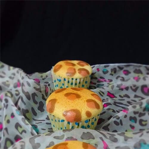 有创意的豹纹杯子蛋糕