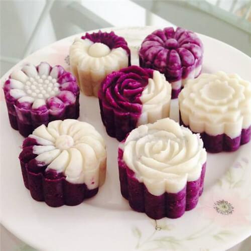 好吃的蜂蜜紫薯山药糕