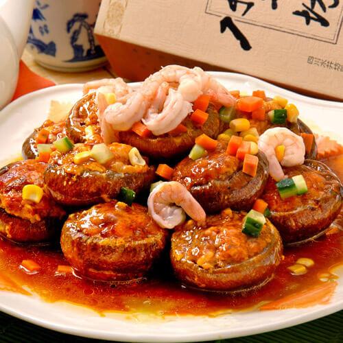 鲜美的豆腐香菇酿青椒