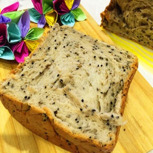 黑芝麻核桃养生面包