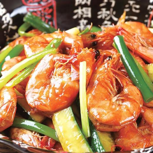 蒸鱼豉油焖虾