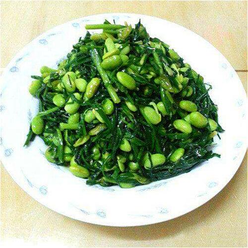 韭菜炒猫豆