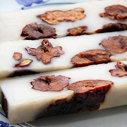 美味的糯米小枣年糕