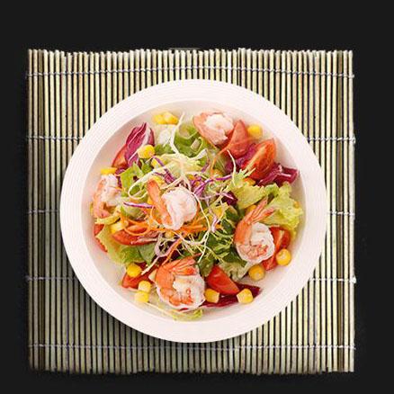 鲜虾生菜沙拉