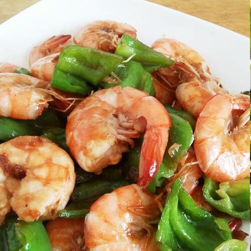 辣炒海白虾
