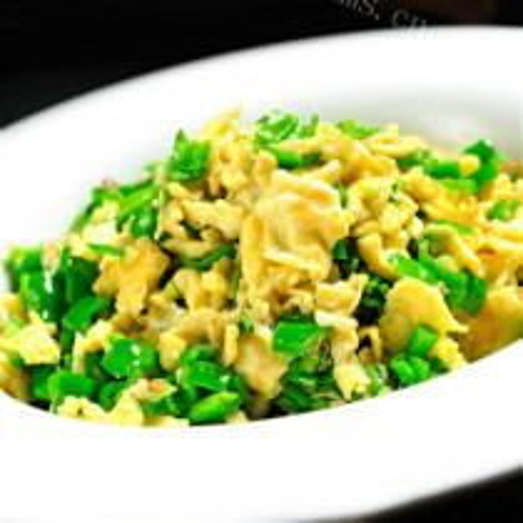 碎青椒炒鸡蛋