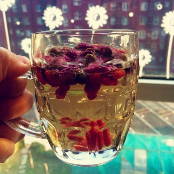 好喝的洛神玫瑰枸杞茶