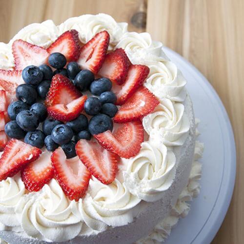 好吃的8寸奶油水果裸蛋糕