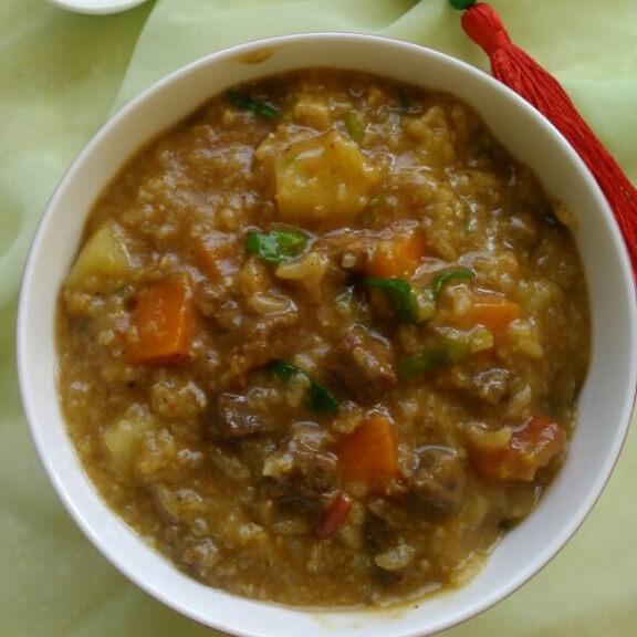 胡萝卜土豆牛肉粥
