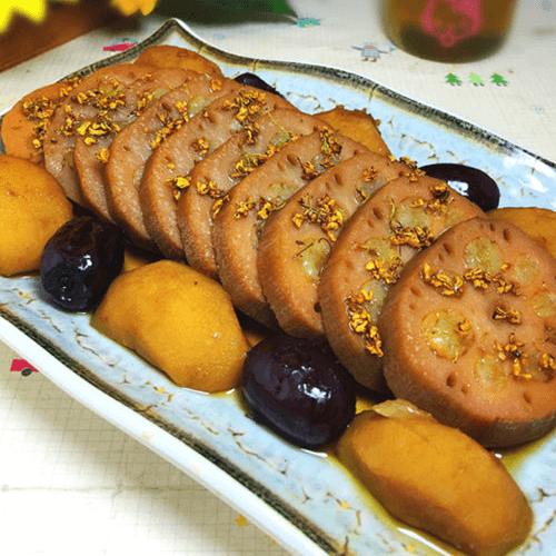 马蹄红枣糯米藕