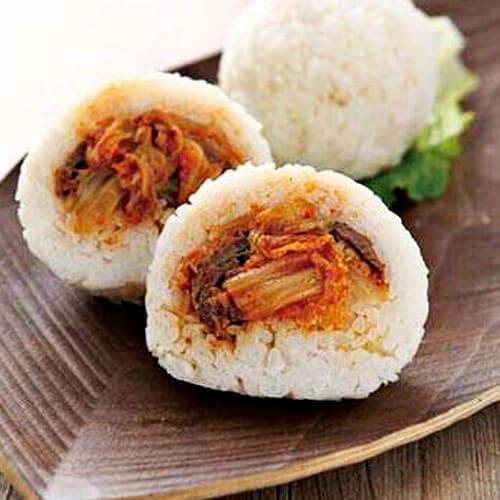 韩式美味泡菜饭团