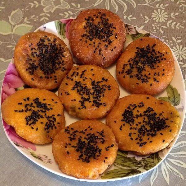 美味的橄榄油椰香芝麻饼