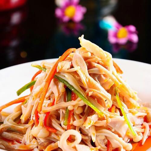 菠菜金针菇凉菜