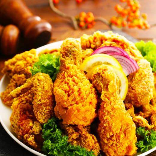 美味可口的韩式果酱炸鸡