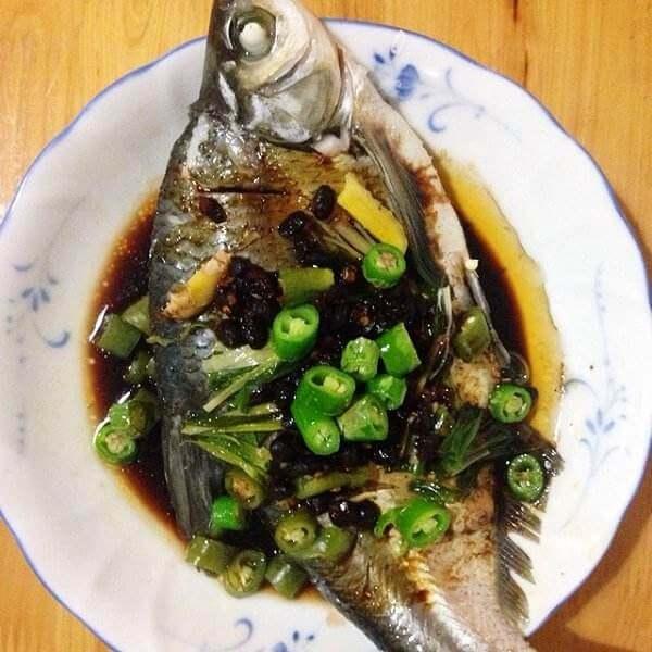 美味的青瓜辣子鱼
