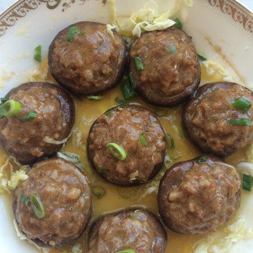 美味的鲜香菇酿肉